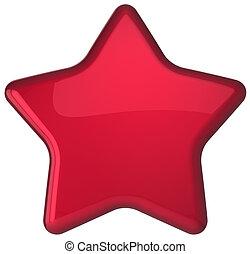Red star shape award decoration blank. Prestige...
