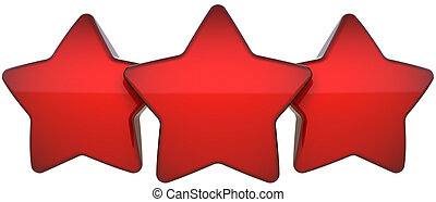 Red star shapes three an a row