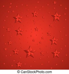 Red stars abstract vector background