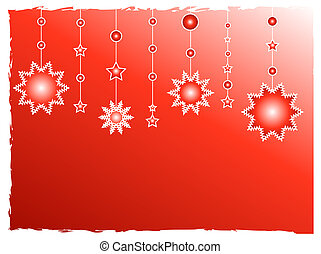Red stars decoration