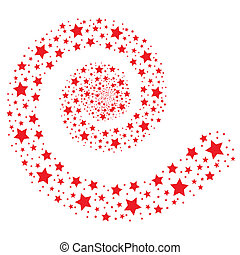 red stars isolated on white