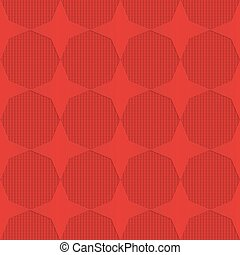 Red stars on checkered background