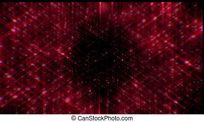 Red stars.Rays of stars red.Moving through Light.Laser Beams...