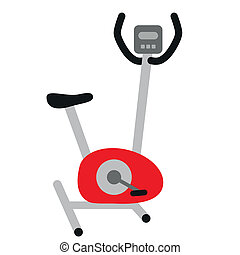 red stationary bicycle