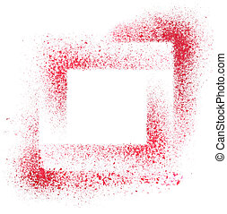 Red stenciled background - Squares. Red stenciled abstract...