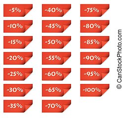red stick tags for percentage discounts
