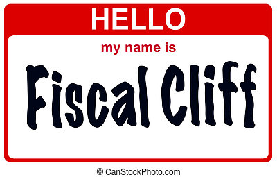 hello my name is fiscal cliff - red sticker hello my name is...