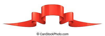 Red sticker on white background. Vector illustration