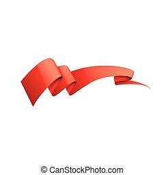 Red sticker on white background. Vector illustration
