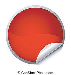 red sticker - postit