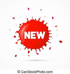Red Sticker, Stain, Blot, Splash With New Title
