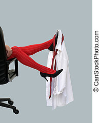 Red stockings - Christmas party at the office went wild