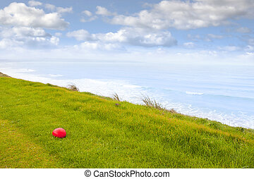 red stone on the Ballybunion links golf course