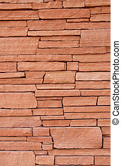 Red Stone Wall for Background