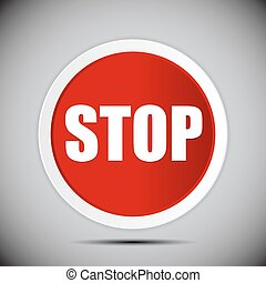Red Stop Road Sign Vector Illustration