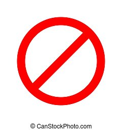 Red stop sign isolated on white background. Vector stop icon.
