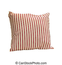 Red straps pillows - Red straps pillow isolated included...