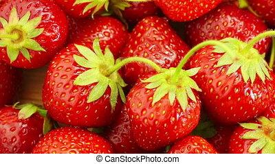 Red Strawberries Rotate.