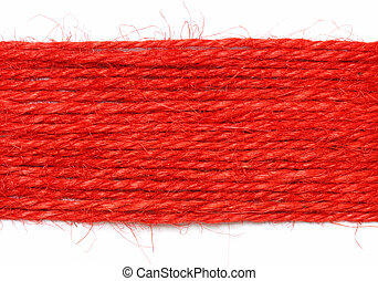 red strings as background on white