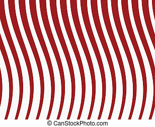 red striped background. Vector illustration