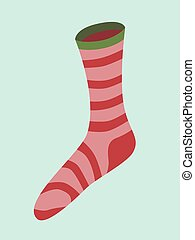 Red striped Christmas sock.eps