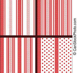 red striped polka dot patterns