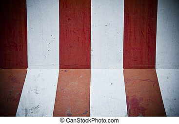 Grunge texture of an abstract wall painted in red and white