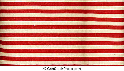 red stripes on the yellowish flax background