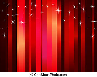 Vector background with red stripes and stars