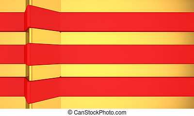 Vibrant red stripes on gold. Perfect for jewelry shop, site, banner etc..