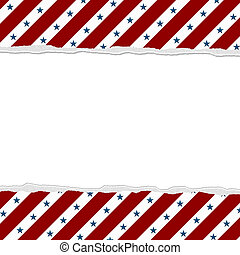 Red Stripes with Blue Stars background for your message or invitation with copy-space in middle