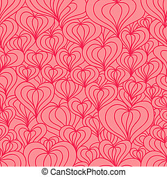 Red stylized hearts seamless