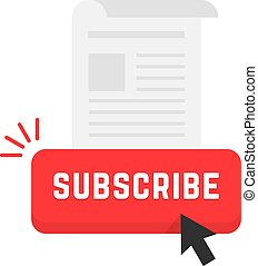 red subscribe newsletter button