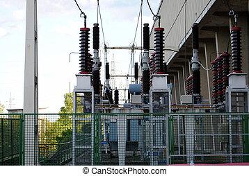 red, suministro, electricidad, energía, equipo, eléctrico