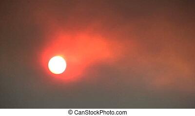 Red Sun and Smoke
