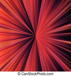 Red sunburst vector background with dark edges