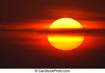 red sunrise - sunrise in summer,germany