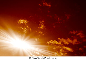 red sunset,
