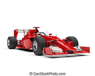 Red super fast sports racing car