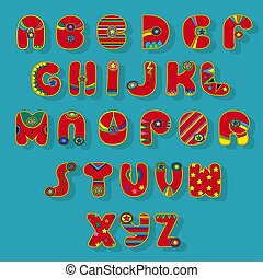 Red Superhero Alphabet - Superhero Alphabet. Red letters...