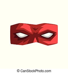 Red superhero mask vector Illustration on a white background
