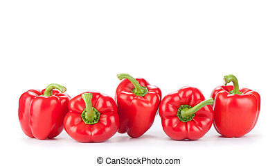 Red sweet bell peppers