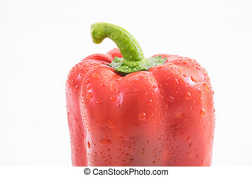 Red  sweet pepper isolated on white background