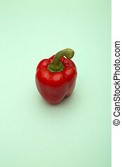 Red Sweet pepper on a green background