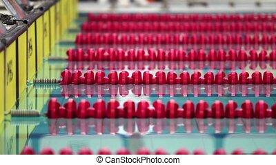 red swimming lane marker