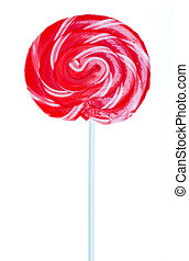 Red Swirl Lollipop