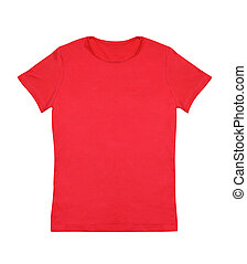 Red T-Shirt - Blank red t-shirt isolated on white