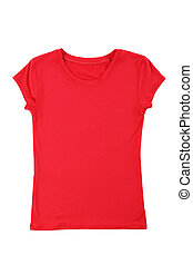 Red t-shirt isolated on a white