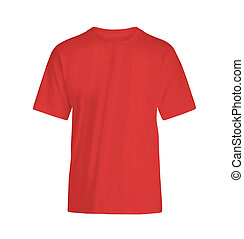 red T-shirt on white background