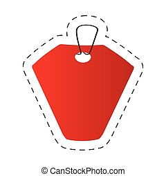 red tag price retail icon